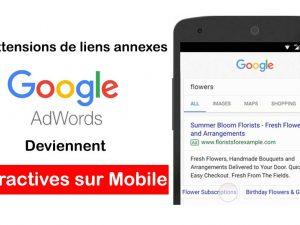 Les extensions de liens annexes deviennent interactives sur mobile